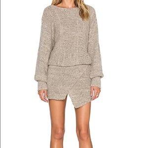 AYNI Lupana Asymmetrical Sweater Dress